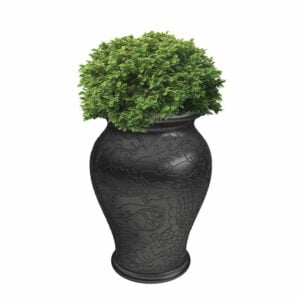 Magentashop-qeeboo-ming-vase-black-planter